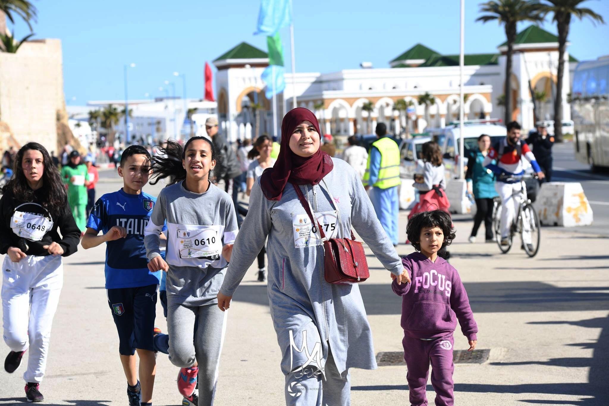 صورة طنجة: سباق على الطريق بمناسبة اليوم الوطني للمرأة المغربية