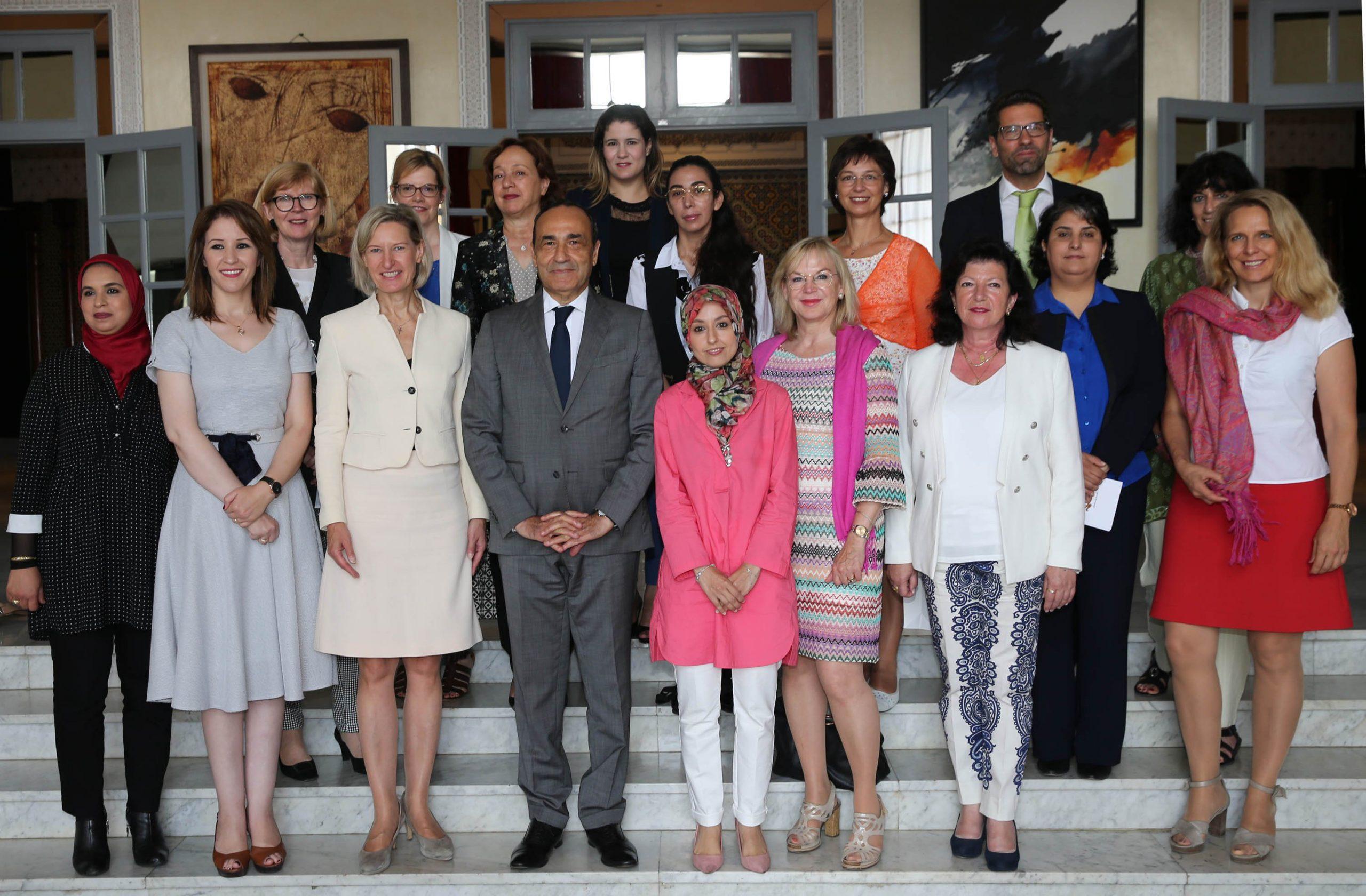 صورة وفد ألماني: الملك محمد السادس يعزز مكانة المرأة المغربية