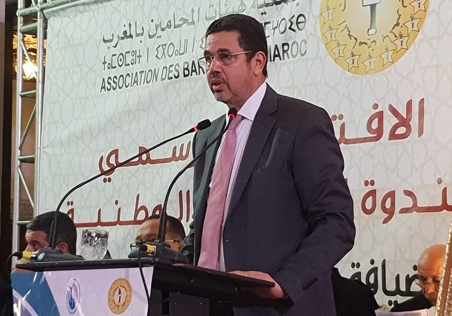 صورة عبد النباوي يوصي المحامين المتمرنين بالتشبث بالقيم والانفتاح على التكنولوجيا