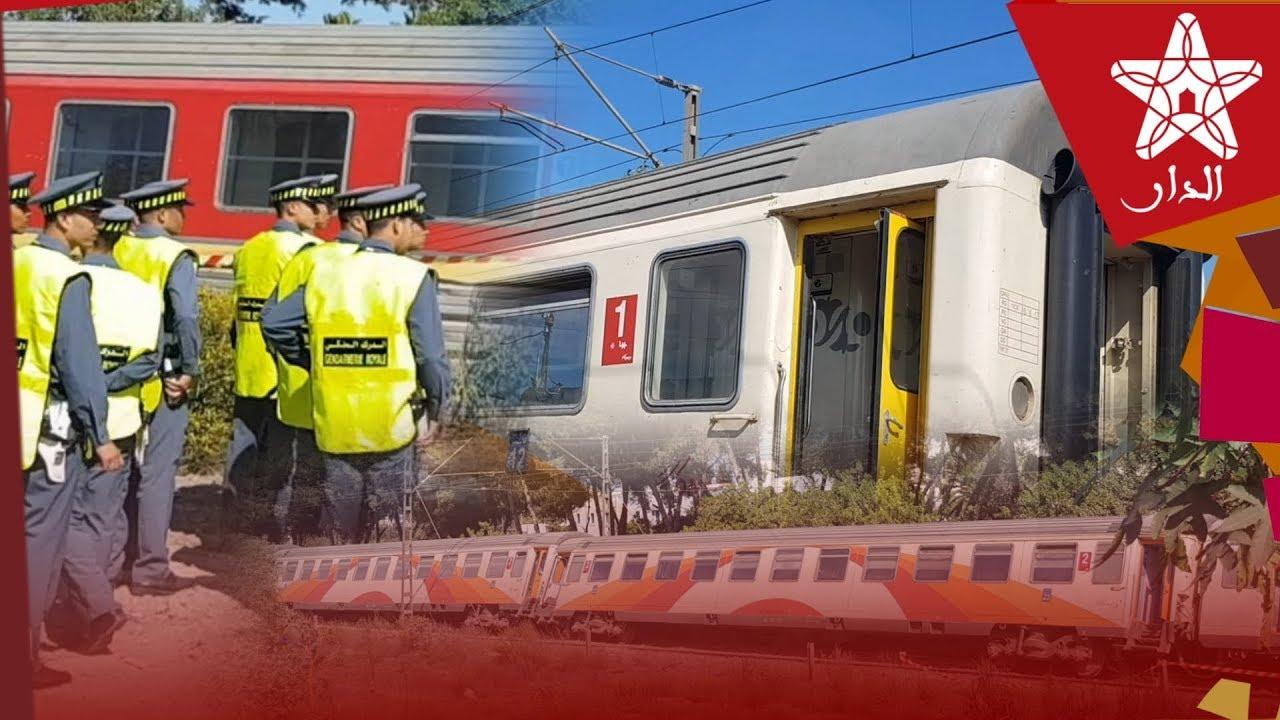 صورة كادت تقع الفاجعة.. تفاصيل خروج قطار عن سكته في بوسكورة بالدار البيضاء
