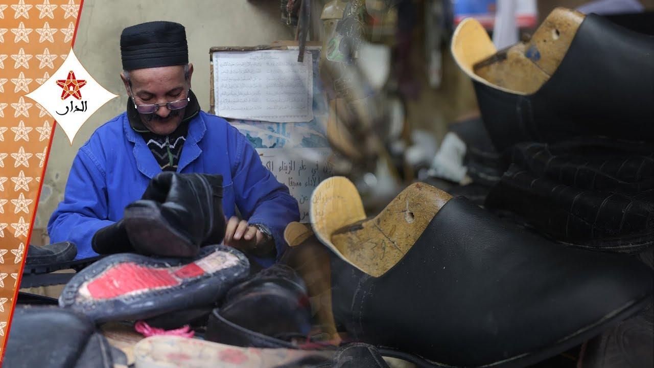"Photo of ""عبد الله الضامن"" إسكافي بالمدينة القديمة للرباط في حديث ممتع مع ""الدار"""
