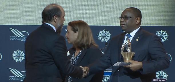 Photo of رئيس السنغال السيد ماكي سال يتسلم بطنجة الجائزة الكبرى ميدايز 2019