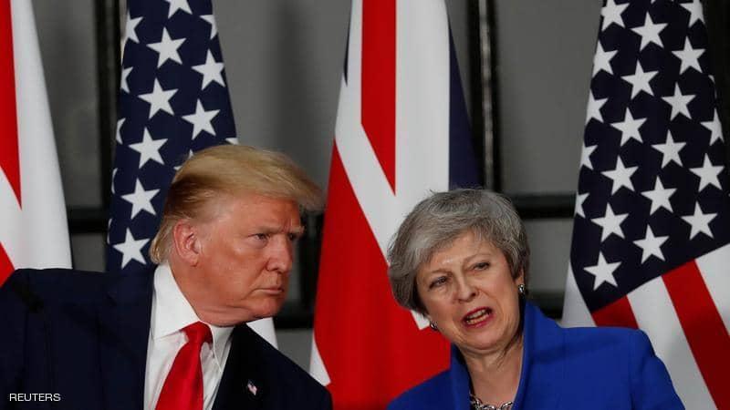 صورة ترامب من لندن: سنمنع إيران من السلاح النووي وتمويل الإرهاب