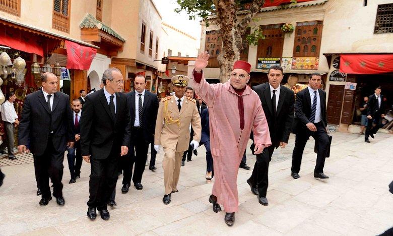 """صورة الملك يعطي انطلاقة أشغال ترميم متحف """"البطحاء"""" وبناء متحف للثقافة اليهودية"""