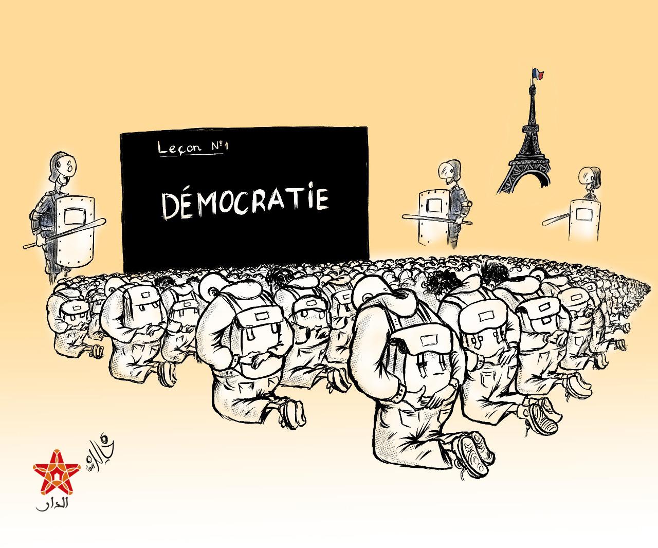 صورة ديمقراطية فرنسا.. السترات الصفراء