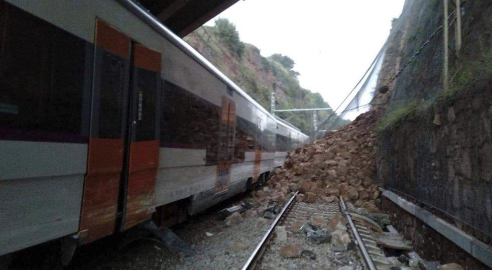 """صورة حصيلة """"قطار برشلونة"""".. قتيل واحد و49 جريحا"""