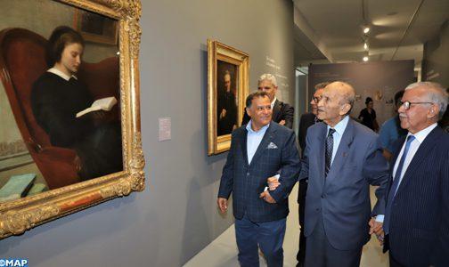 صورة عبد الرحمن اليوسفي يزور متحف محمد السادس للفن المعاصر