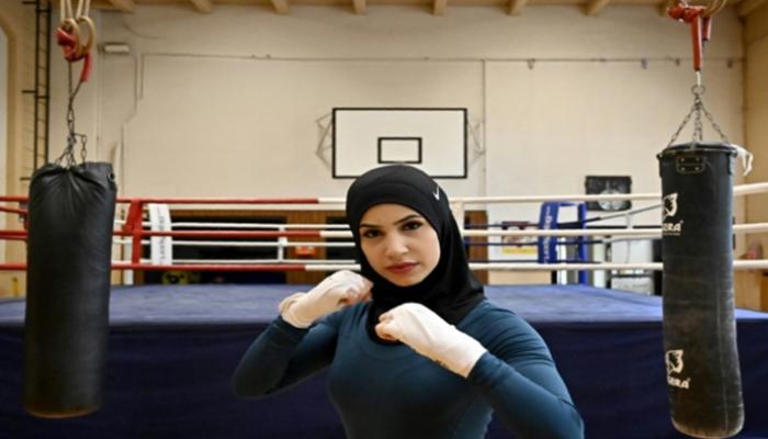 صورة زينة نصار.. ملاكمة تناضل لقبول الحجاب بالمسابقات الدولية