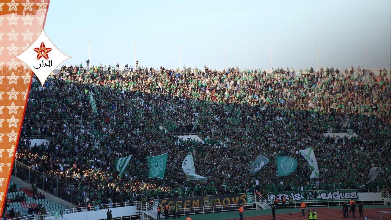 Photo of هكذا ساندت الجماهير الرجاوية فريقها بملعب مولاي عبد الله أمام النجم الساحلي التونسي