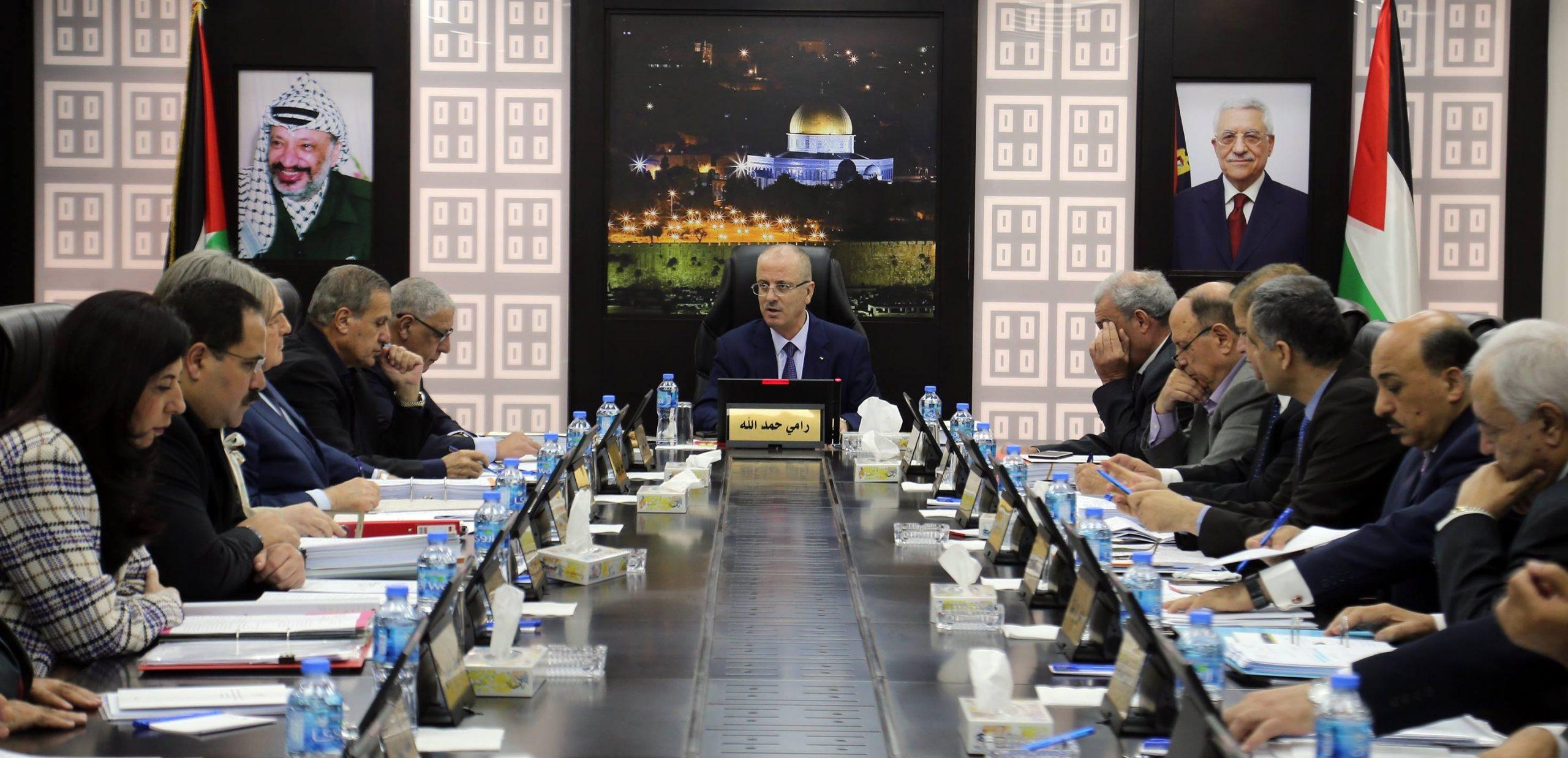 صورة الحكومة الفلسطينية تصادق على استراتيجية أمنية جديدة