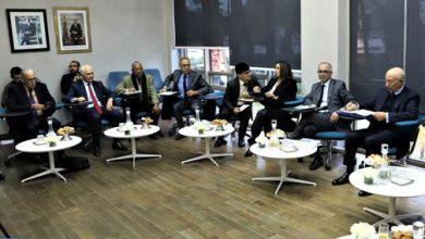 صورة اللجنة الخاصة بالنموذج التنموي تعقد جلسة استماع لممثلي فيدرالية اليسار الديمقراطي