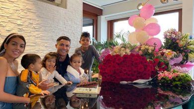 صورة بالصور.. رونالدو يحتفل بعيد ميلاد خطيبته
