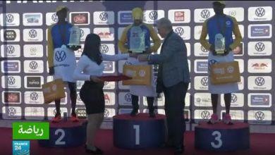 صورة ماراثون مراكش الدولي: المغربي هشام لقواحي يفوز باللقب ويحطم الرقم القياسي للمسابقة