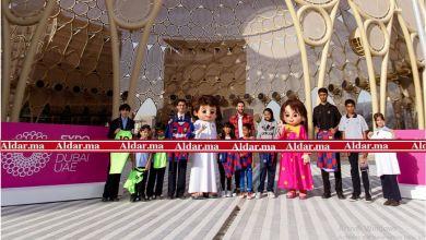 "Photo of بالصور.. ميسي يلتقي طلاب المدارس في قلب موقع ""إكسبو 2020 دبي"""