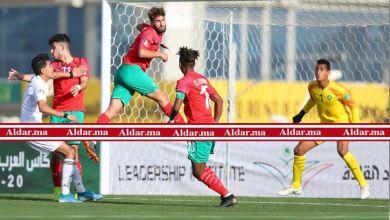 صورة بالصور..المنتخب المغربي يتأهل لنصف نهائي البطولة العربية