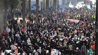 صورة الرباط.. مسيرة وطنية تضامنية نصرة للقضية الفلسطينية