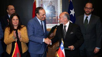 صورة رئيس مجلس النواب ورئيس مجلس النواب الشيلي يتفقان على مأسسة الحوار البرلماني بين المجلسين في إطار لجنة مشتركة