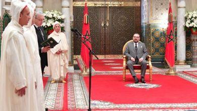 صورة في بلاغ للديوان الملكي : الملك يستقبل الأعضاء الأربعة الجدد المعينين بالمحكمة الدستورية