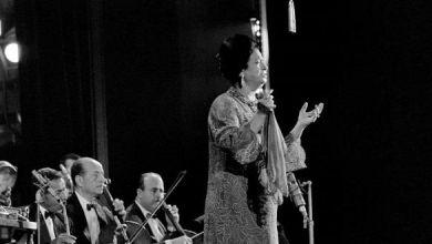 صورة بعد 45 سنة على رحيلها .. أم كلثوم تضيء مسرح الأوبرا المصرية