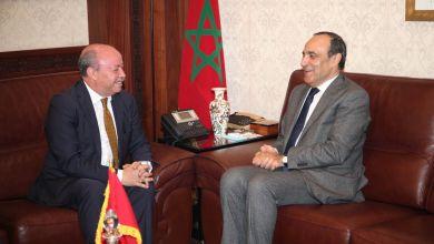 صورة رئيس مجلس النواب يستقبل سفير الجمهورية الجزائرية بالرباط
