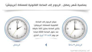 صورة رمضان.. الرجوع إلى الساعة القانونية للمملكة