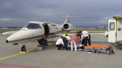 صورة طائرة طبية ترحل فرنسية تعرضت لاعتداء خطير بالسلاح الأبيض بتارودانت
