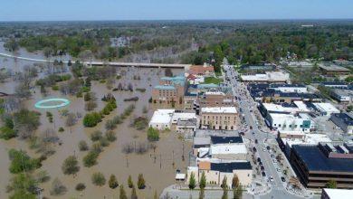 صورة بالتزامن مع كورونا.. إجلاء الآلاف إثر انهيار سدين في ميشيغان الأمريكية