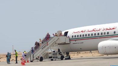صورة وصول 118 مغربيا من العالقين بموريتانيا إلى مطار الداخلة