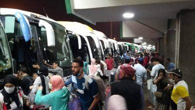 صورة محطات نقل المسافرين بالدار البيضاء .. ليلة البحث عن السفر بأي وسيلة