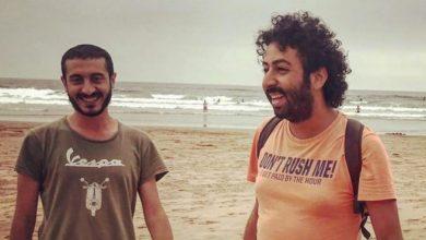 صورة الإفراج عن الصحافيين عمر الراضي وعمر استيتو ومتابعتهما في حالة سراح بالسكر العلني والسب والتشهير