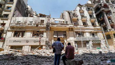 صورة خمسة جرحى في انهيار مبنى تراثي في القاهرة