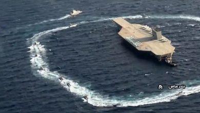 صورة إيران تعترض ناقلة نفط في المياه الدولية (الجيش الاميركي)