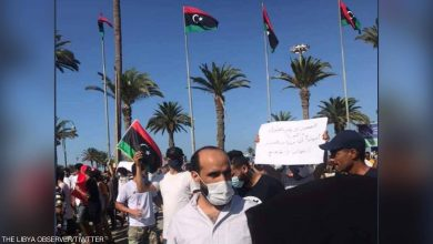 صورة الفساد المستشري ونهب الأموال تخرج الليبيين الى طرابلس ضد حكومة السراج