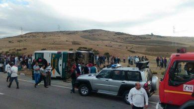 """صورة مصرع 12 شخصا وإصابة 36 آخرين في حادثة سير على مستوى دوار """"دو امزي"""" جماعة """"امسوان"""""""