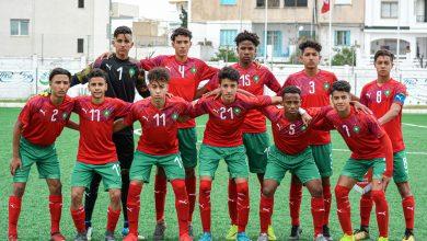 صورة المنتخب الوطني لأقل من 17 سنة يخوض تداريبه بمركب محمد السادس لكرة القدم