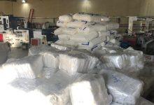 صورة طنجة : مداهمة معمل سري لصناعة الأكياس البلاستيكية