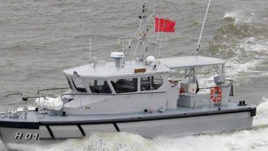 صورة إفشال عملية لتهريب الممنوعات من طرف البحرية الملكية بعرض كابو نيغرو