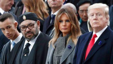 صورة الملك يعبر عن متمنياته بالشفاء العاجل لدونالد ترامب وزوجته ميلانيا