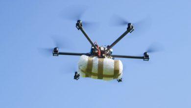 صورة ضبط طائرة بدون طيار تحمل 4 كيلوغرامات من الحشيش المغربي في غابات سبتة