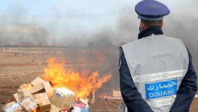 صورة الدار البيضاء : إتلاف محجوزات من المخدرات والمواد المهربة