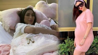 صورة دنيا بطمة ترزق بمولودتها الثانية