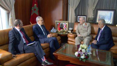 صورة المغرب- المملكة المتحدة: لوديي يتباحث بالرباط مع الجنرال دو كوردارمي السير جون لوريمر