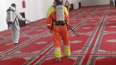 صورة حملة تعقيم واسعة للمساجد التي ستقام بها صلاة الجمعة ببني ملال