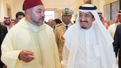 صورة جلالة الملك يبعث برقية تهنئة لخادم الحرمين الشريفين بمناسبة الذكرى السادسة لبيعته