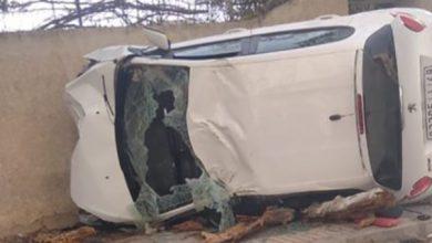 صورة وفاة شخص في حادثة سير مروعة بوجدة