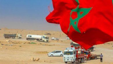 """صورة المغرب ينهي تعبيد معبر """"الكركرات"""" إلى موريتانيا وينشئ جدارا أمام عصابات """"البوليساريو"""""""