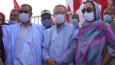 """صورة أعضاء من حزب """"الأحرار"""" بالكركرات…يؤكدون على دعمهم لعملية الجيش المغربي والتفافهم حول جلالة الملك"""