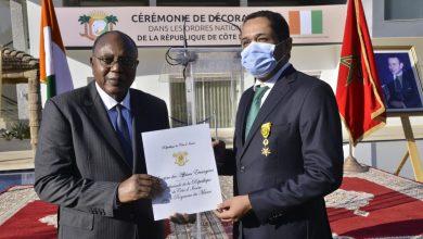 صورة كوت ديفوار توشح أول سفير شرفي في الصحراء المغربية بوسام الاستحقاف