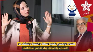صورة اعتماد الزاهيدي تفضح العدالة والتنمية وتكشف عن الأسباب والدوافع وراء تقديم استقالتها