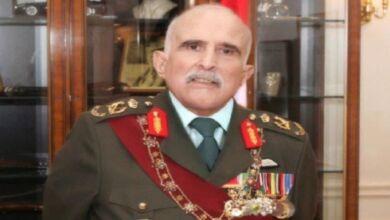 برقية تعزية ومواساة من جلالة الملك إلى الملك عبد الله إثر وفاة عمه الأمير محمد بن طلال